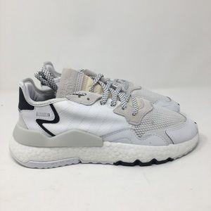 Adidas Nite Jogger J EE6482 White Black FB26